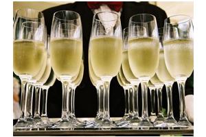 bazové šampanské recept, poháre