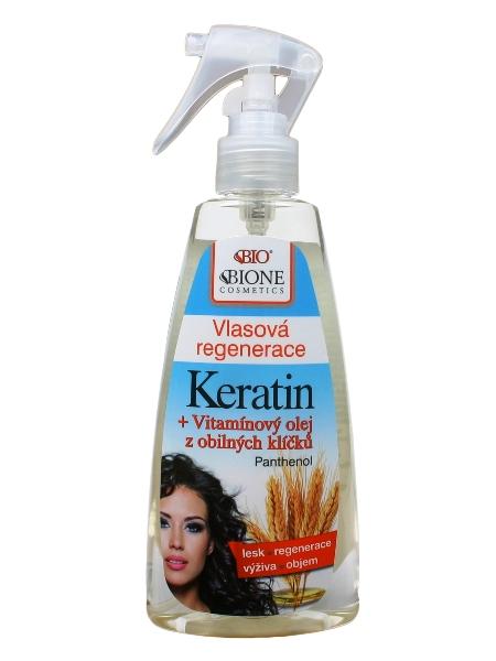Bione Cosmetics - Vlasová regenerácia Keratin + Olej z obilných klíčkov 260ml