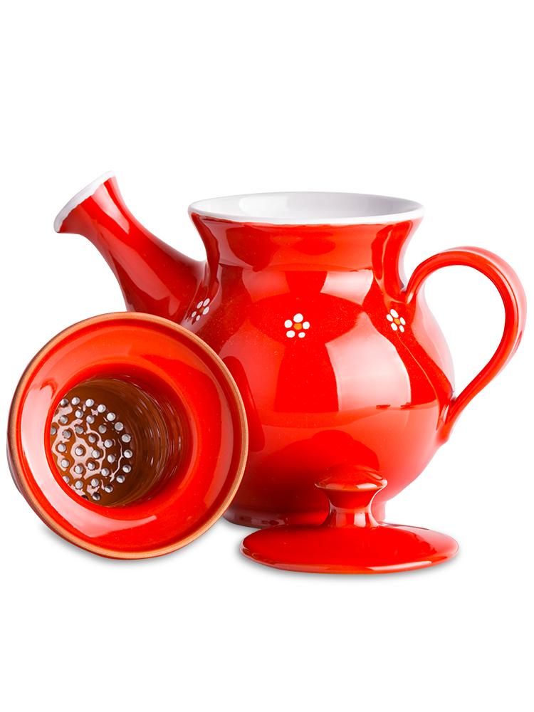 Čajník malý - červený