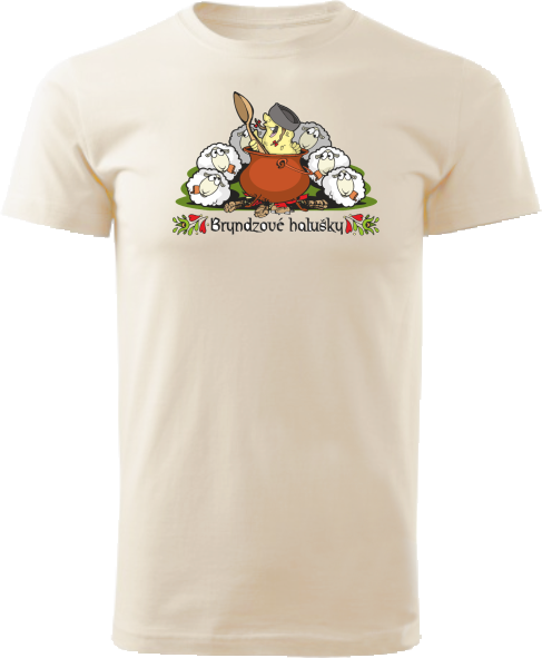 Tričko bryndzové halušky Unisex Natural