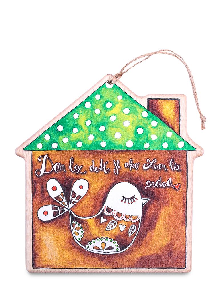 Drevený domček hnedý vtáčik
