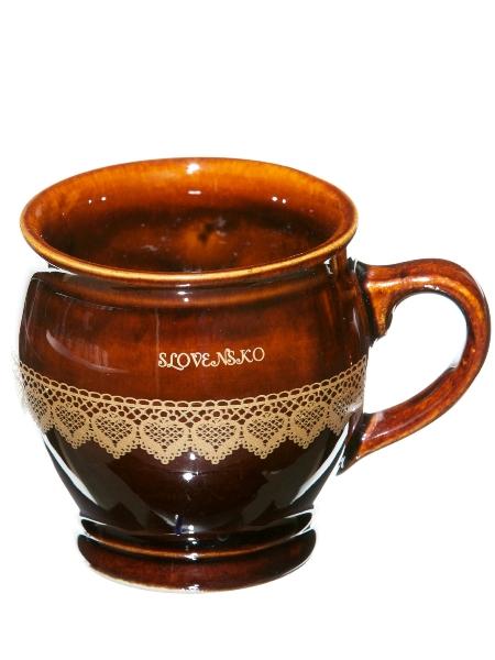Keramický pohár - vzor čipka