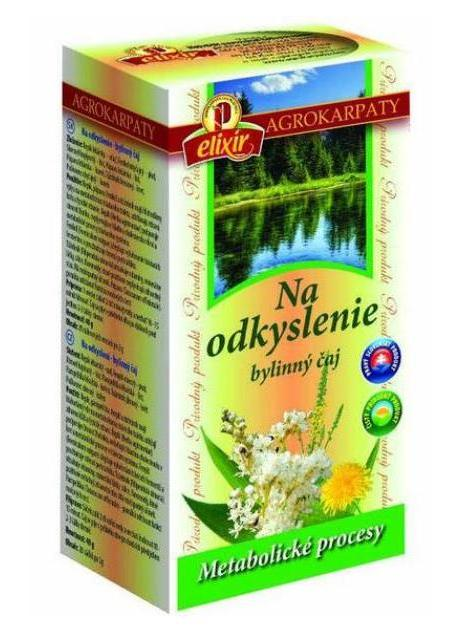 Agrokarpaty na odkyslenie bylinný čaj 20x2g