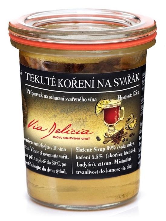 Via Delicia Tekuté korenie na varené víno 175g