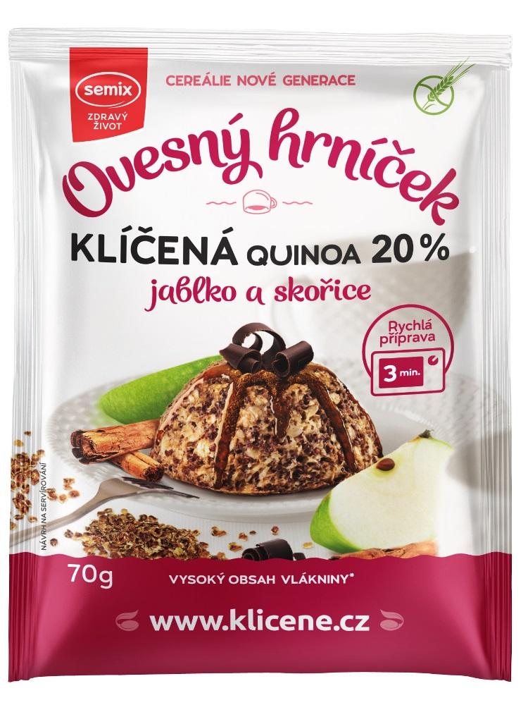 SEMIX Ovsený hrnček quinoa, jablko a škorica bez lepku 70g