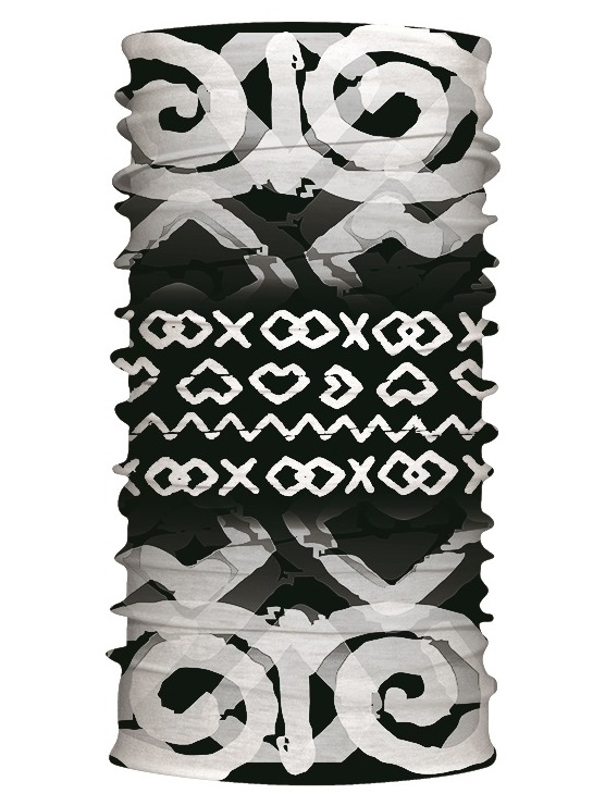 Multifunkčný šál čičmanské znaky čierny 7171