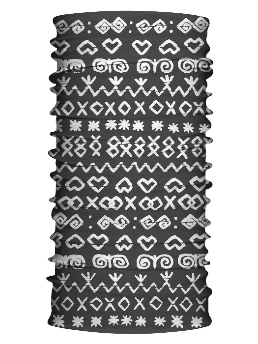 Multifunkčný šál čičmany retro čierny 7157