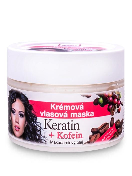Bione Cosmetics - Krémová vlasová maska keratin + Kofein 260ml