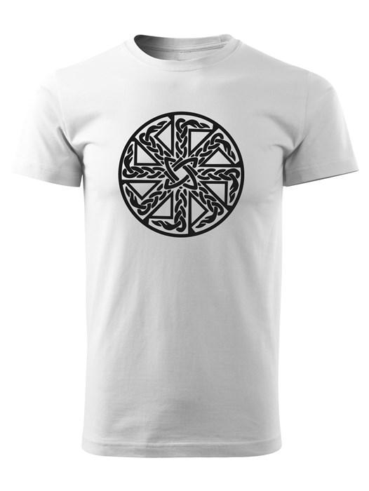 Tričko kolovrat 15 Unisex Biele