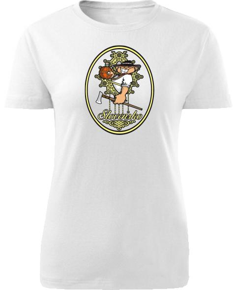 Tričko mládenec Dámske klasik Biele