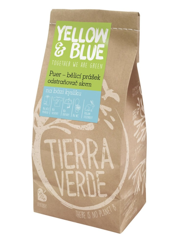 Tierra Verde PUER bieliaci prášok a odstraňovač škvŕn - vrecko 1kg