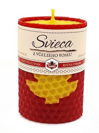 Sviečka včelí vosk bordová 70mm/50mm