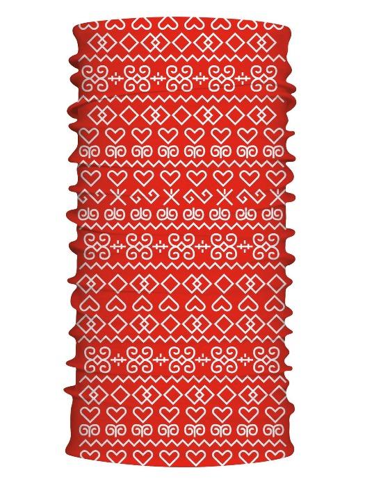 Multifunkčný šál čičmany červený 7103