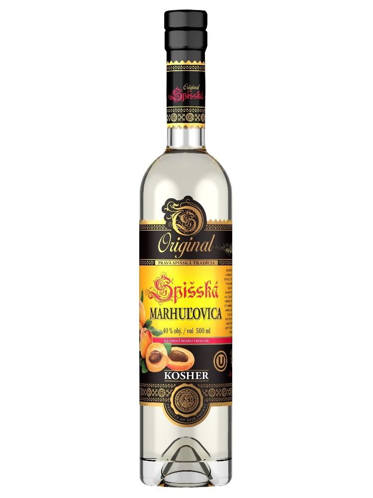 Spišská marhuľovica 40% KOSHER 0,5L
