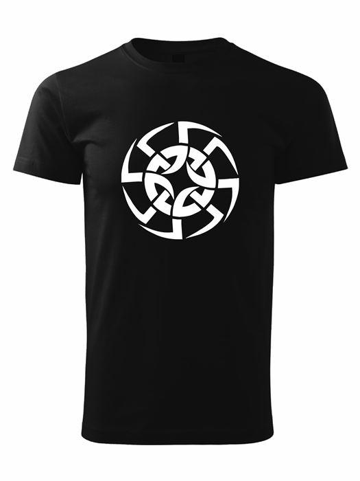 Tričko kolovrat 8 Unisex Čierne