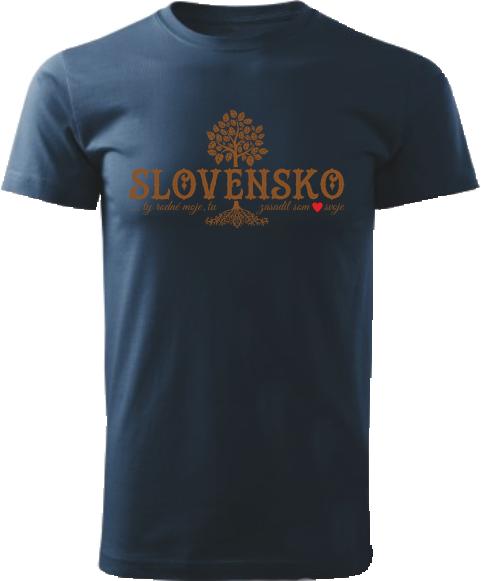Tričko lipa Unisex Námornícke modré