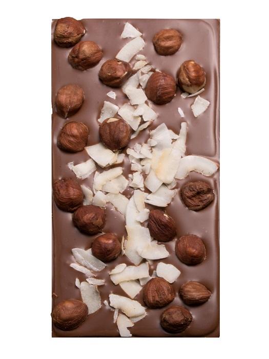 Valach Čokoláda mliečna s lieskovcami a kokosom 100g
