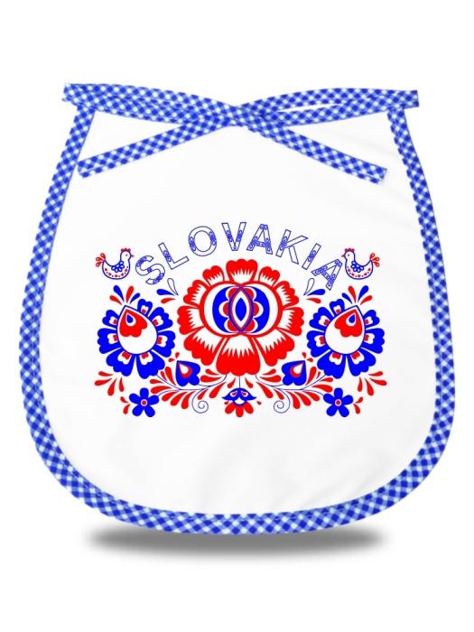 Detský podbradník Slovakia kvet Modrý