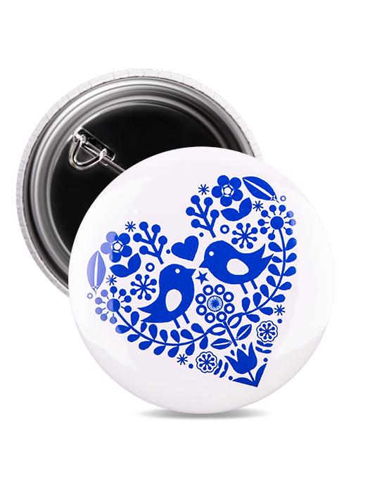 Odznak folklórne srdce modré