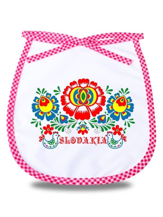 Detský podbradník Slovakia kvet 1 Červený