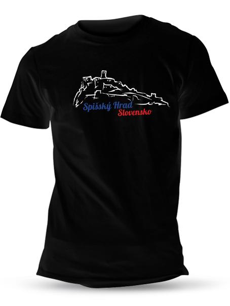 Tričko spišský hrad Unisex Čierne
