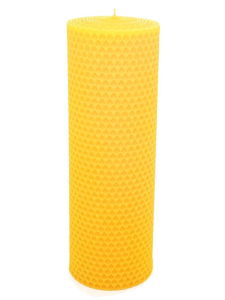 Sviečka včelí vosk žltá 205mm/70mm