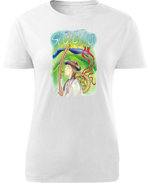 Tričko valach Dámske klasik Biele