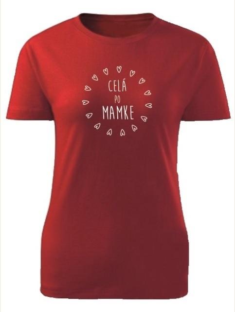 Tričko celá po mamke Dámske klasik Červené
