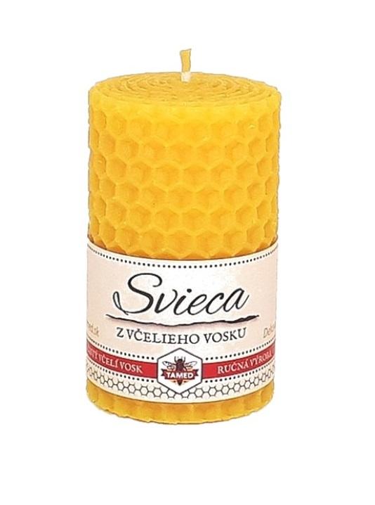 Sviečka včelí vosk žltá 67mm/40mm
