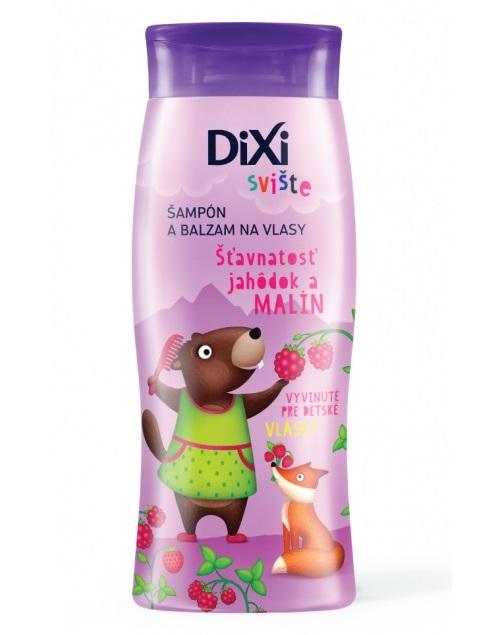 DIXI Šampón a balzam na vlasy Jahoda+malina Svište 250ml