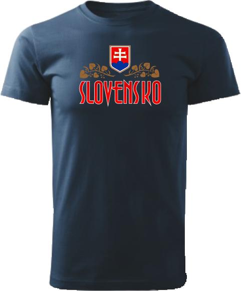 Tričko Slovensko lipa Unisex Námornícke modré