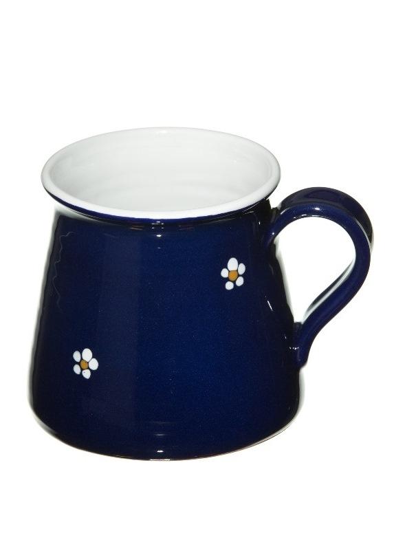 Keramický hrnček sólo - modrý