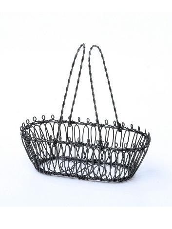 Košíček drôtený oválny