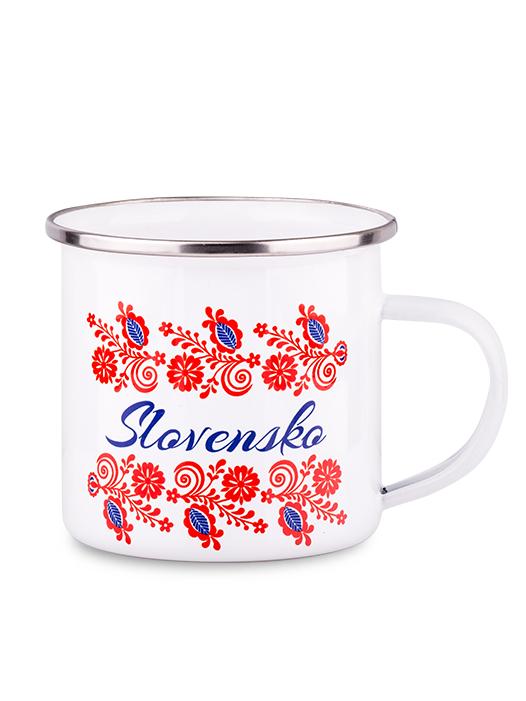 Plechový hrnček slovenské kvety 300ml