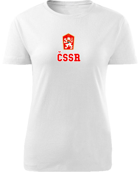 Tričko ČSSR Dámske klasik Biele