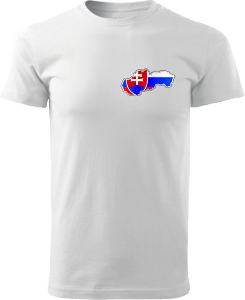 Tričko Slovenská republika Unisex Biele