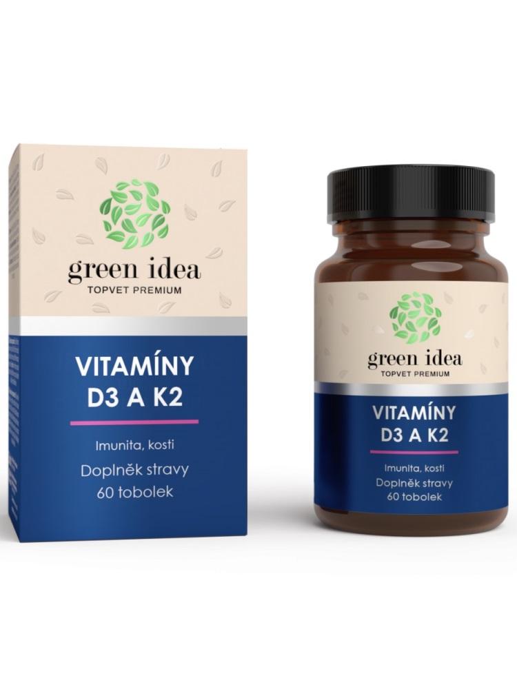 Topvet Vitamín D3 a K2 60 kapsúl
