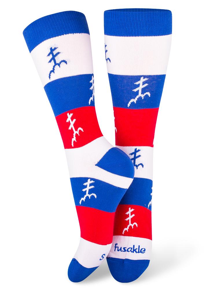 Fusakle ponožky dvojkríž SK