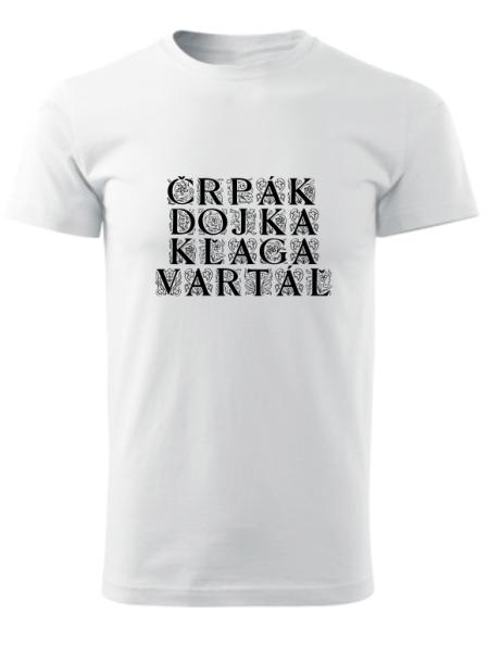 Tričko bačovský slovník Unisex Biele