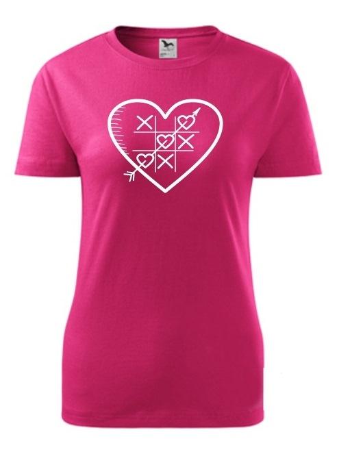Tričko piškôrky Dámske klasik Rúžové