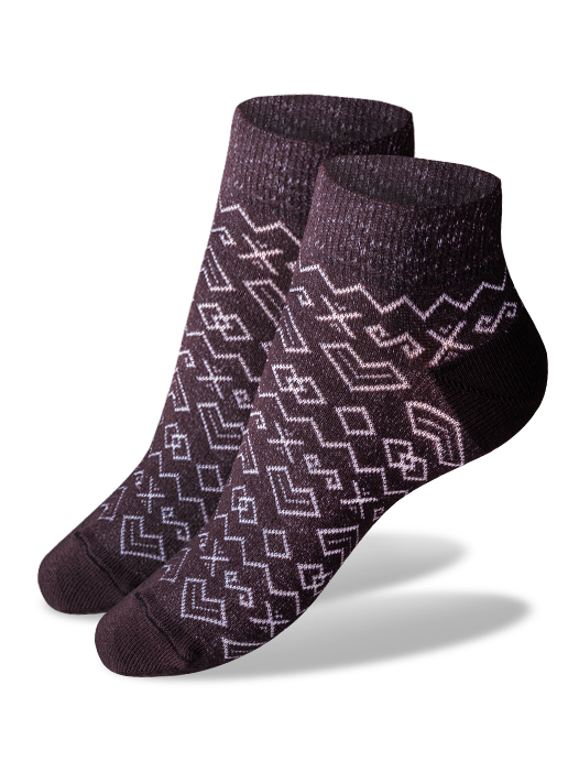 Členkové ponožky čičmany - hnedé