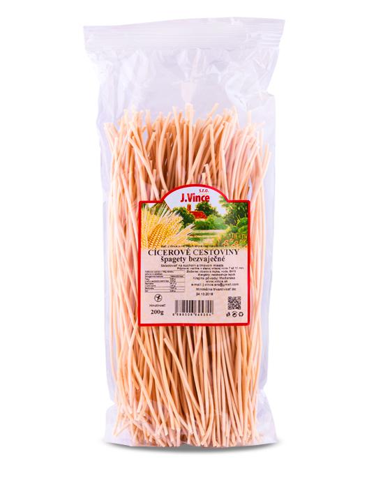 J. vince cícerové cestoviny špagety bezvaječné 200g