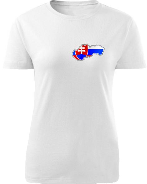 Tričko Slovenská republika Dámske klasik Biele
