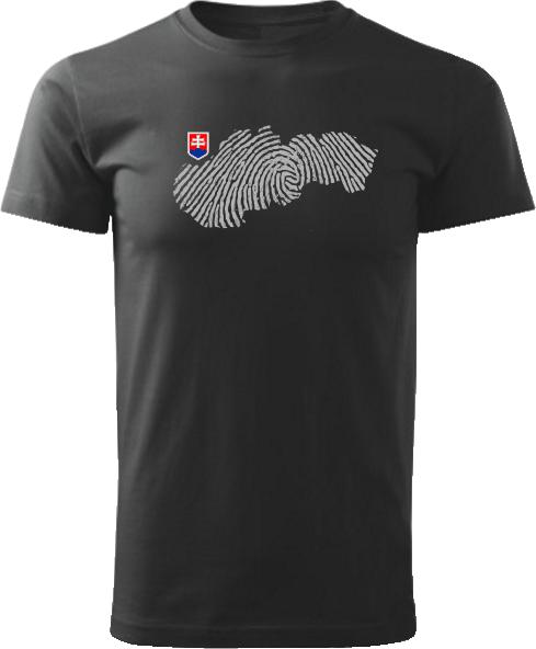 Tričko Slovensko otlačok Unisex Čierne
