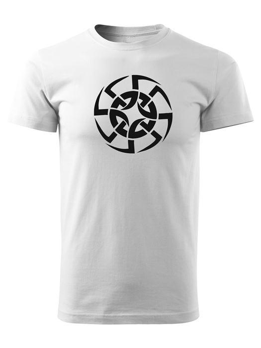Tričko kolovrat 8 Unisex Biele