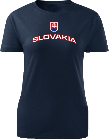 Tričko Slovakia Dámske klasik Čierne