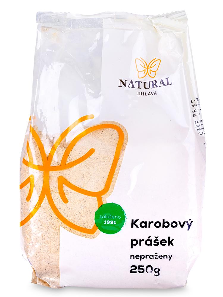 NATURAL JIHLAVA Karobový prášok nepražený 250g