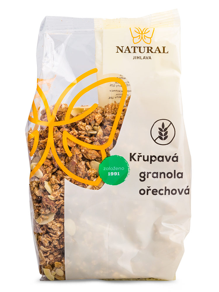 NATURAL JIHLAVA Chrumkavá granola orechová 300g