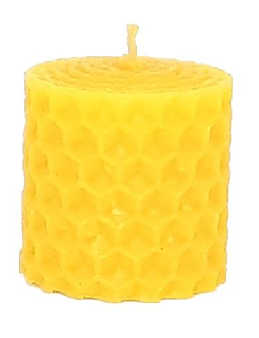 Sviečka včelí vosk žltá 33mm/30mm