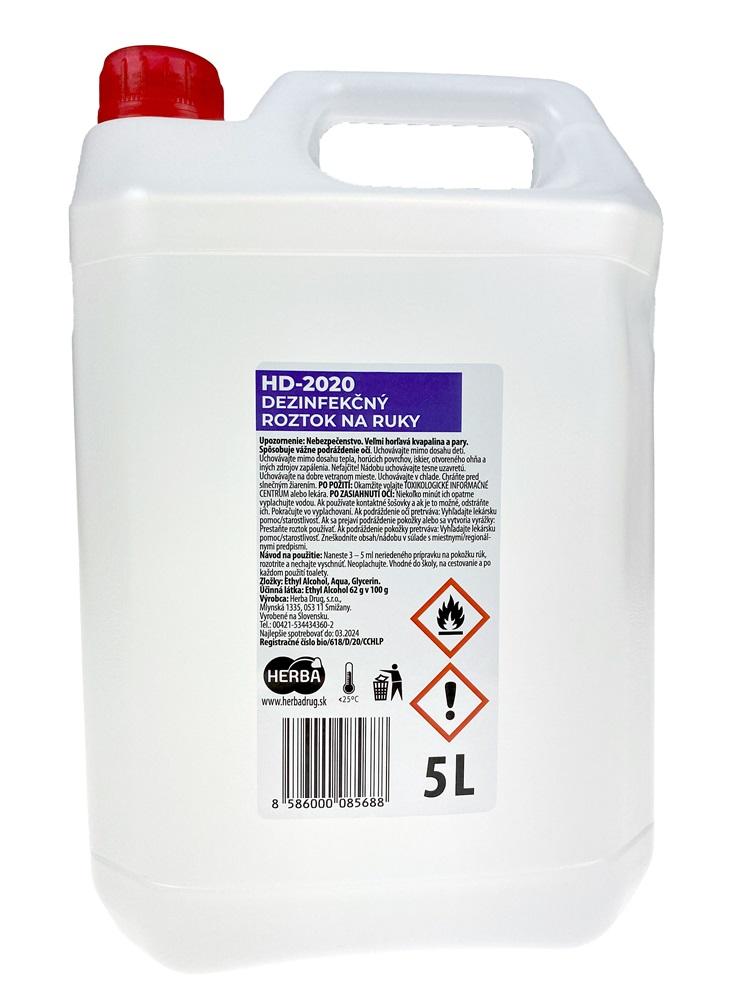 HD 2020 dezinfekčný roztok na ruky 5L